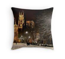 A Magical Evening In York Throw Pillow
