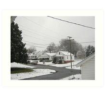 Feb. 19 2012 Snowstorm  Art Print