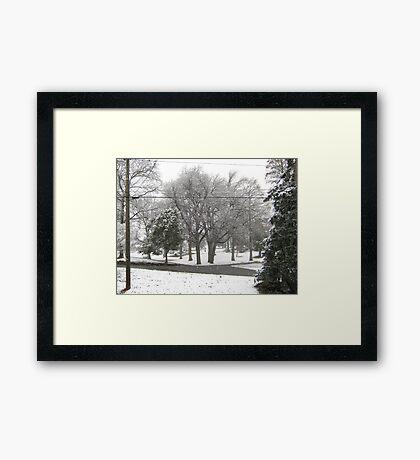 Feb. 19 2012 Snowstorm 2 Framed Print