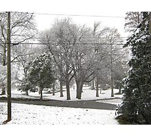 Feb. 19 2012 Snowstorm 2 Photographic Print