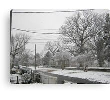 Feb. 19 2012 Snowstorm 3 Canvas Print