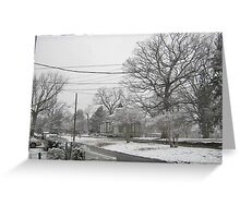 Feb. 19 2012 Snowstorm 3 Greeting Card