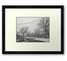 Feb. 19 2012 Snowstorm 5 Framed Print