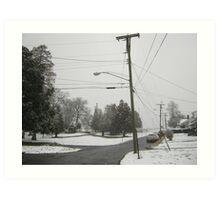 Feb. 19 2012 Snowstorm 8 Art Print