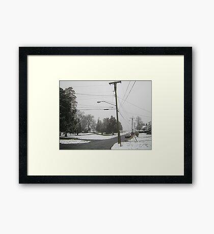 Feb. 19 2012 Snowstorm 8 Framed Print