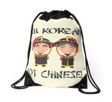 I'm Korean not Chinese Drawstring Bag