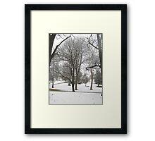 Feb. 19 2012 Snowstorm 17 Framed Print