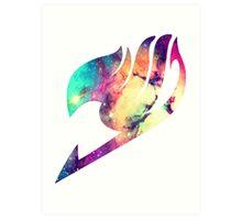 Galaxy Fairy Tail Logo Art Print