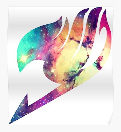 Galaxy Fairy Tail Logo Poster