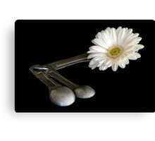 Add One Heaping Tablespoon of Flower Canvas Print