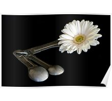 Add One Heaping Tablespoon of Flower Poster