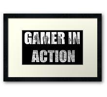 Gamer in Action Framed Print
