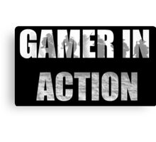 Gamer in Action Canvas Print