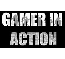 Gamer in Action Photographic Print