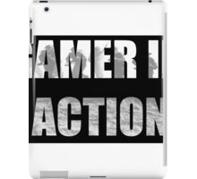 Gamer in Action iPad Case/Skin