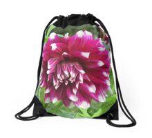 Purple Dahlia II Drawstring Bag