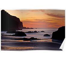 A Sunset Palette - China Beach, San Francisco Poster