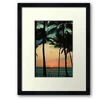 blue hawaii Framed Print