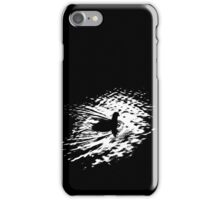 Coot, silhouette as swimming on a pond iPhone Case/Skin