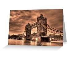 Tower Bridge Sepia Greeting Card