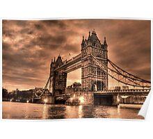Tower Bridge Sepia Poster