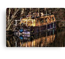 The Narrowboat Canvas Print