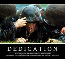 Dedication: Inspirational Quote and Motivational Poster by StocktrekImages