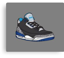 Shoes Blue Grey (Kicks) Canvas Print