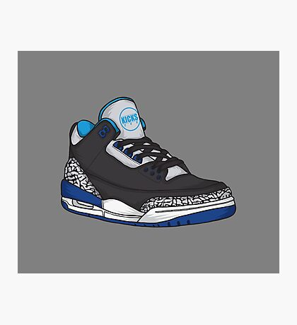 Shoes Blue Grey (Kicks) Photographic Print
