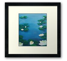 Lily loves water Framed Print