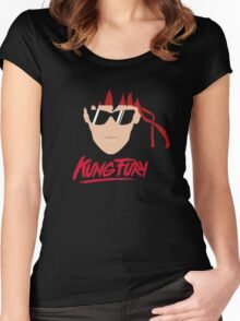 Kung Fury Minimalistic Design Women's Fitted Scoop T-Shirt
