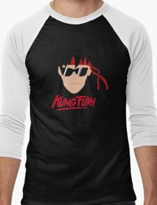 Kung Fury Minimalistic Design Men's Baseball ¾ T-Shirt