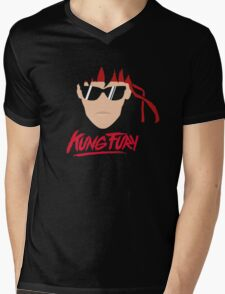 Kung Fury Minimalistic Design Mens V-Neck T-Shirt