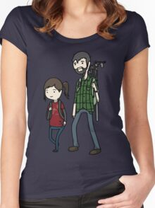 The Last of us Adventure Time Women's Fitted Scoop T-Shirt