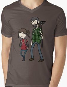 The Last of us Adventure Time Mens V-Neck T-Shirt