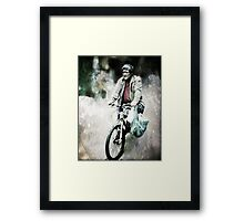 Saturday shopping Framed Print