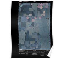USGS Topo Map Washington State WA Ritzville SE 20110401 TM Inverted Poster