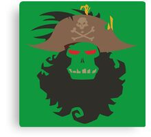 The Ghost Pirate LeChuck Minimalistic Design Canvas Print