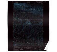 USGS Topo Map Washington State WA Black Rock Spring SW 240083 1953 24000 Inverted Poster