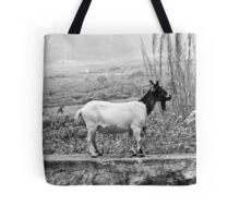 Goat on a Block Tote Bag