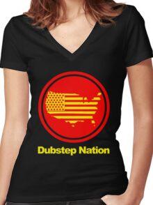 Dubstep Nation pt. II  Women's Fitted V-Neck T-Shirt