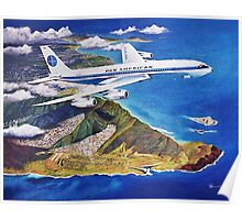 Departing Paradise Classic Airliners Poster
