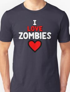 I love zombies - on army T-Shirt