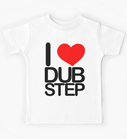 I love dubstep (dark)  Kids Tee
