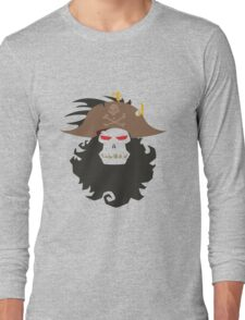 The Ghost Pirate LeChuck Minimalistic Design Long Sleeve T-Shirt