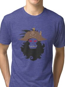 The Ghost Pirate LeChuck Minimalistic Design Tri-blend T-Shirt