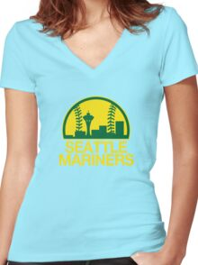 Seattle Sports Mashup Women's Fitted V-Neck T-Shirt