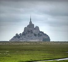 Mont St.Michel ( 2 ) The Flats by Larry Lingard-Davis