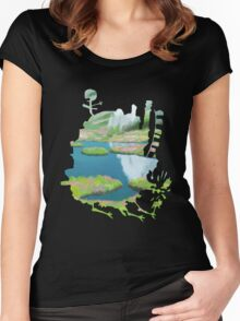 Howl's moving castle 2 Women's Fitted Scoop T-Shirt