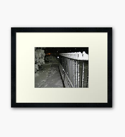Feb. 19 2012 Snowstorm 56 Framed Print